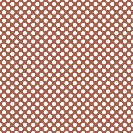 scrapbook homemade: Tile vector pattern with white polka dots on brown background