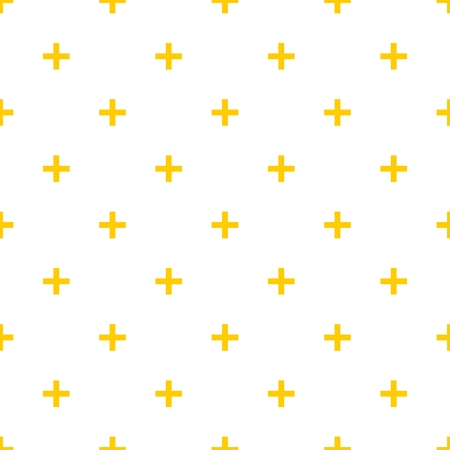 cross hatch: Tile cross plus yellow and white vector pattern Illustration