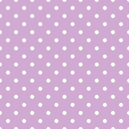 タイル パステル バイオレット ピンク背景に小さな白の水玉模様のベクトル パターン  イラスト・ベクター素材