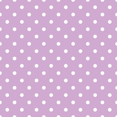 Tile vector pattern with small white polka dots on pastel violet pink background Vectores
