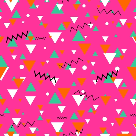 80s or 90s tile pink vector pattern