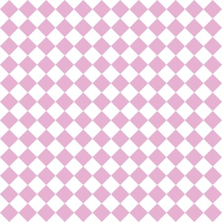 Checkered Fliese Vektor-Muster oder rosa und weiße Tapete Hintergrund