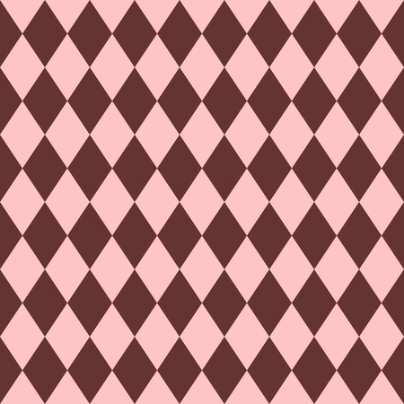 pink brown: Pink and brown tile vector pattern