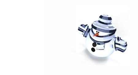 Snowman 3d render illustration isolated on white background Stock Photo