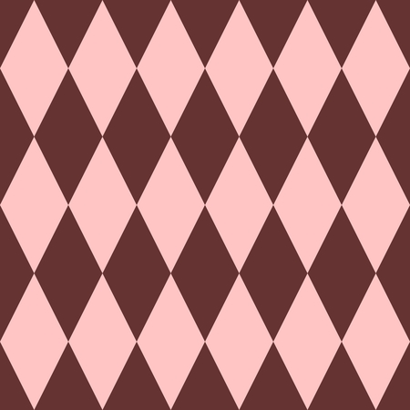 pierrot: Pink and brown tile vector pattern