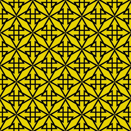 black yellow: Tile vector pattern with yellow green and black background Illustration