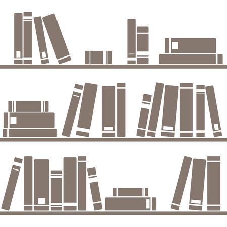 シームレスな装飾壁紙の白背景に関する書籍を並べてベクトル  イラスト・ベクター素材