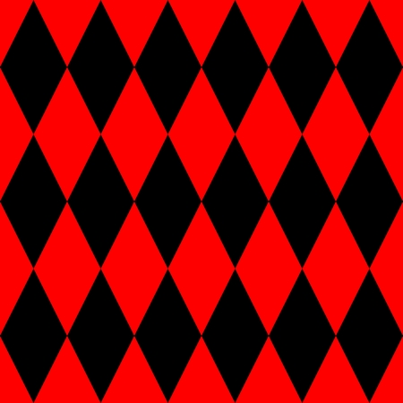 pierrot: Tile black and red background or vector pattern