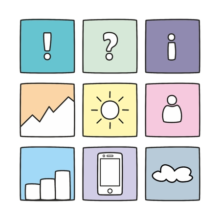 answer: Pastel icon vector set