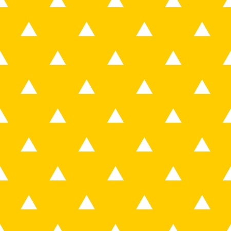 Tile vector pattern with white triangle on yellow background Illustration