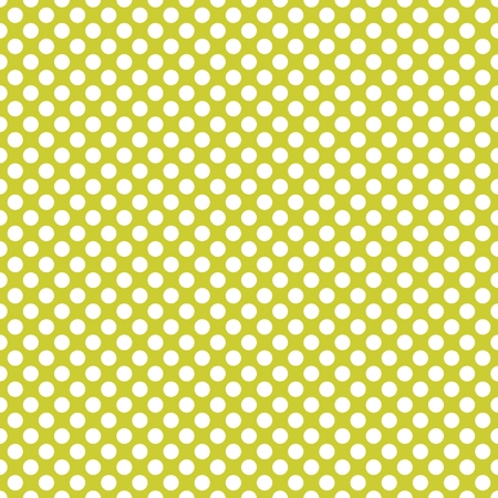 Tile vector pattern with white polka-dots on green background Illustration