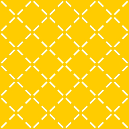 Yellow tile vector pattern with quilted background Illustration