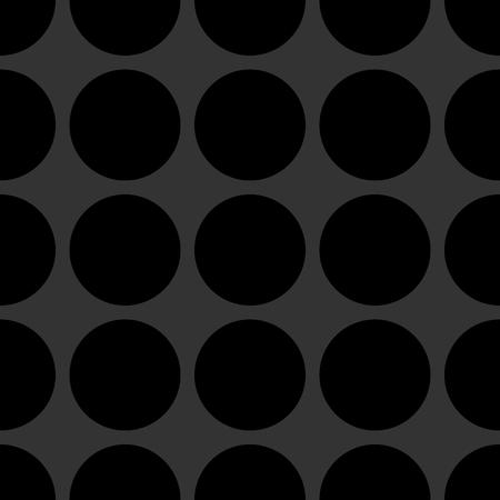 textured backgrounds: Tile vector pattern with black dots on dark grey background Illustration