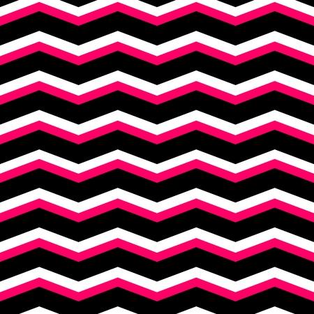 tile pattern: Zig zag chevron black, pink and white tile vector pattern Illustration