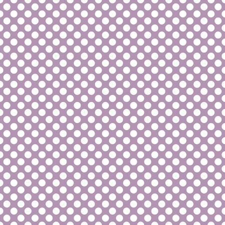 decorate: Tile vector pattern with white polka-dots on pastel violet background