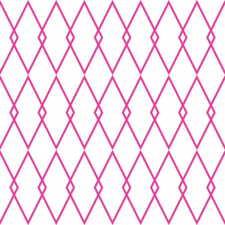 pierrot: Pink and white tile vector pattern Illustration