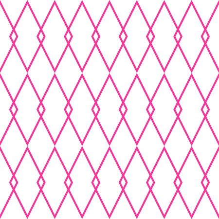 white tile: Pink and white tile vector pattern Illustration