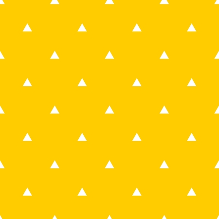 textured backgrounds: Tile vector pattern with white triangles on yellow background