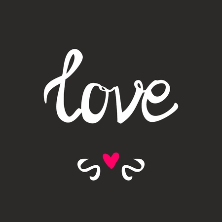 heart sign: Love vector sign with heart on black background Illustration