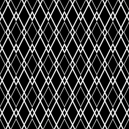 diamond shape: Tile black and white vector pattern or website background