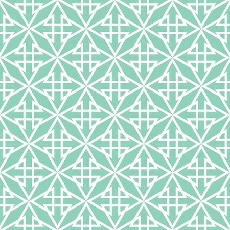 blue green background: Tile pastel green and white vector pattern Illustration