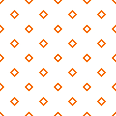 autumn background: Tile orange and white vector pattern