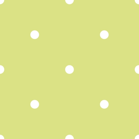 christmas backgrounds: Tile vector pattern with white polka dots on green background