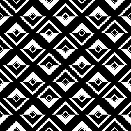 Tile black and white vector pattern Vektorové ilustrace