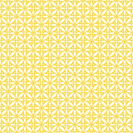 abstract flowers: Tile yellow and white vector pattern Illustration