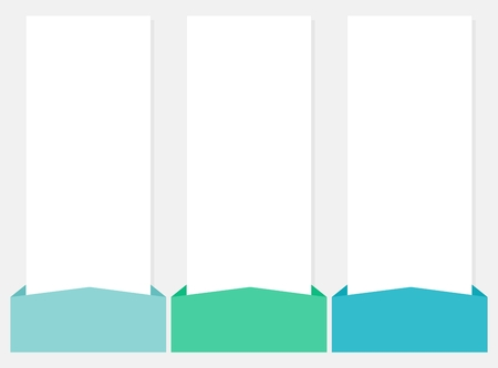 white boxes: 3 options infographics vector web template Illustration