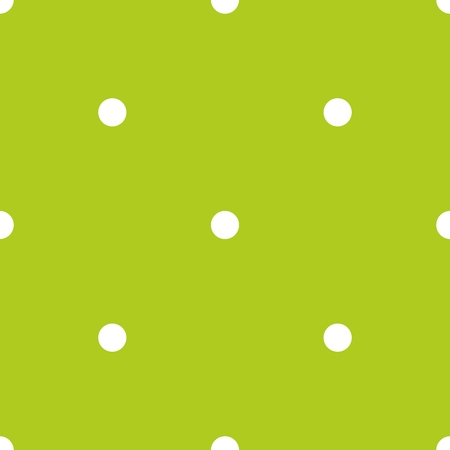Tile vector pattern with small white polka dots on green background