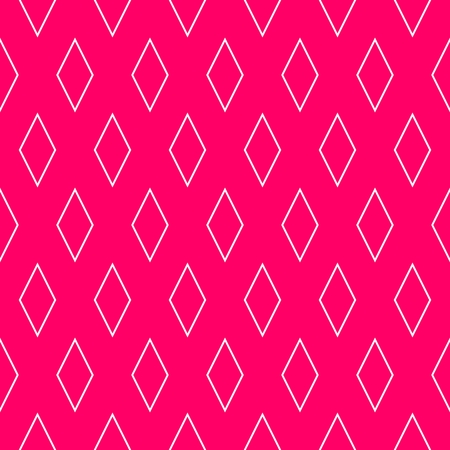Tile vector pattern or pink and white wallpaper background Illustration