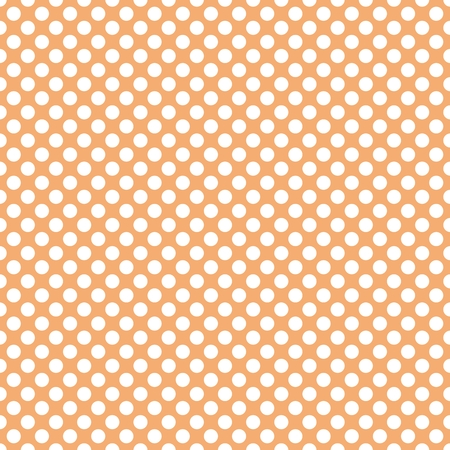 decorate: Tile vector pattern with white polka dots on pastel coral orange background