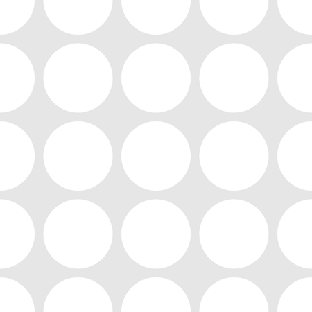 decorate: Tile vector pattern with white polka dots on grey background Illustration