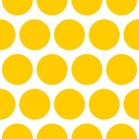 Tile vector pattern with yellow dots on white background