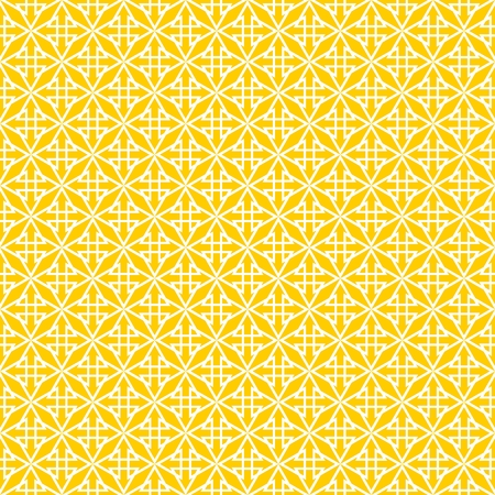 decoration: Tile yellow and white vector pattern Illustration