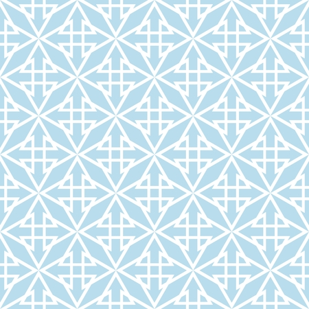 Tile pastel blue and white vector pattern for seamless decoration background wallpaper Illustration