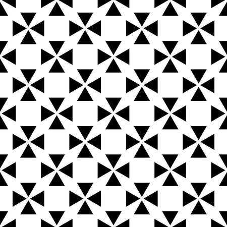 decoration: Tile vector pattern with black and white crosses background