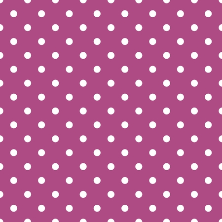 fashion: Tile vector pattern with white polka dots on violet background