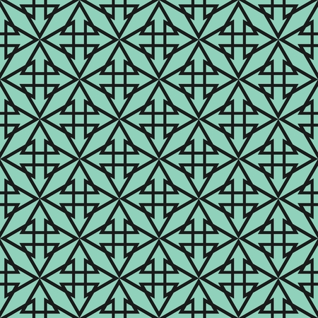 blue green background: Tile vector pattern with green and black background Illustration