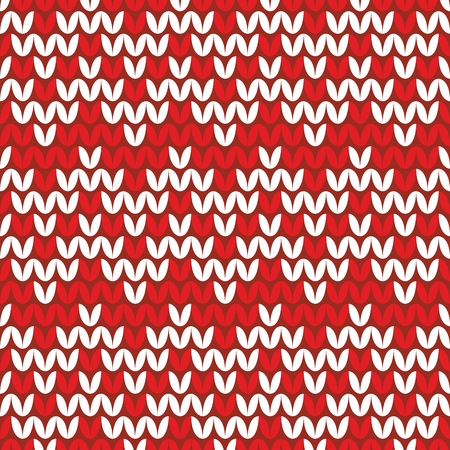 red wallpaper: Tile red and white knitting vector pattern or winter background