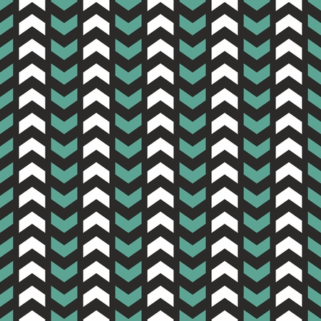forme: Tile vector pattern with white, blue or mint green zig zag print on black background