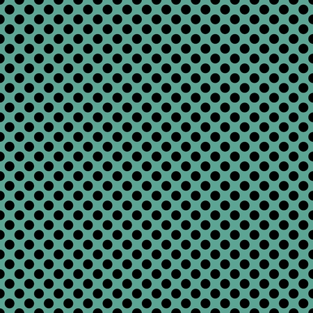 texture: Tile vector pattern with black polka dots on green background. Illustration