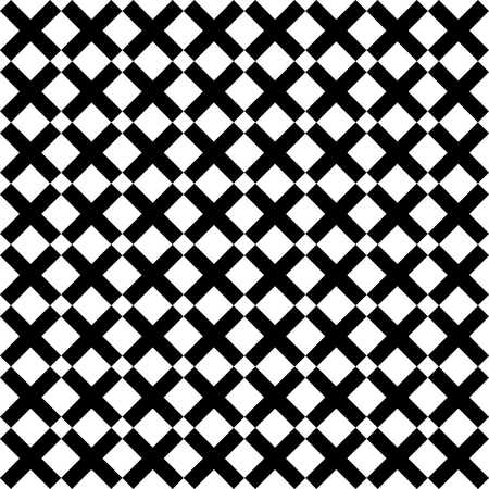board: Tile black and white x cross vector pattern