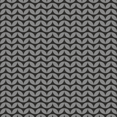 gray: Tile black and grey knitting vector pattern or winter background