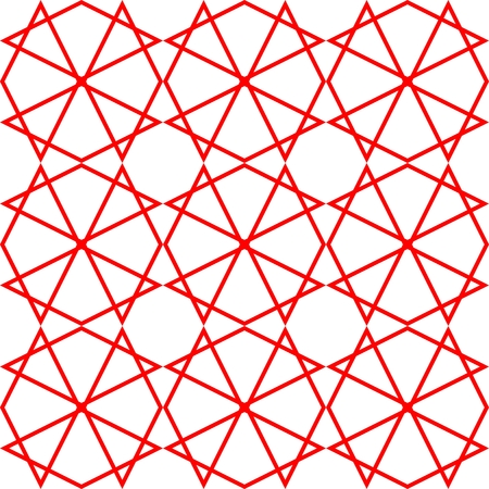 grid background: Tile vector pattern or red and white wallpaper background Illustration