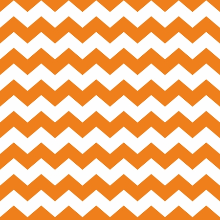 Tile chevron vector pattern with orange and white zig zag background Illustration