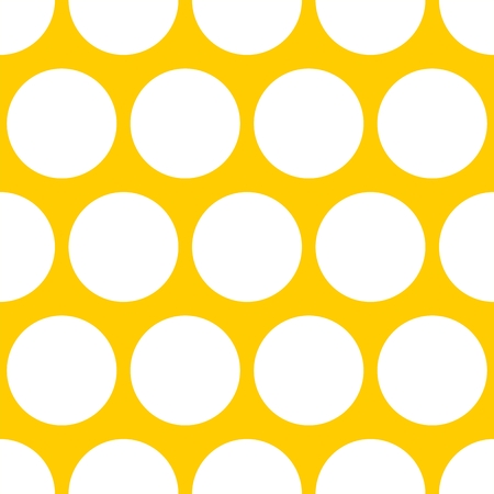 Tile vector pattern with white dots on yellow background