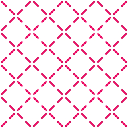 Tile pink and white vector pattern or quilted background wallpaper