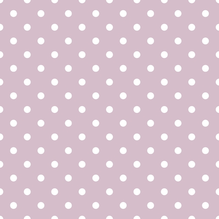 texture: Tile vector pattern with white polka dots on pastel violet background Illustration